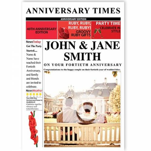 Anniversary Times 40th Magazine Cover Card