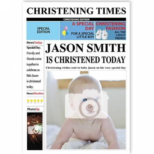 Christening Times Male Card