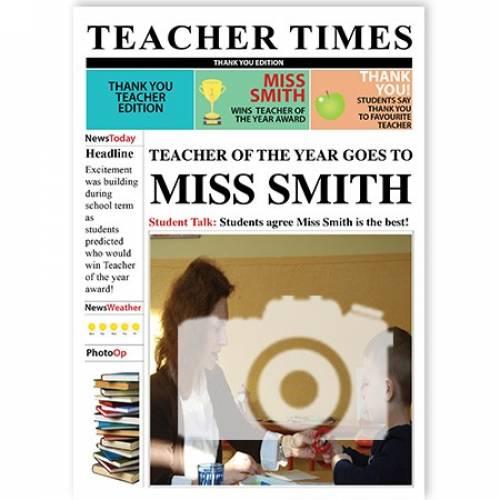 Teacher Times Teacher Of The Year Greeting Card