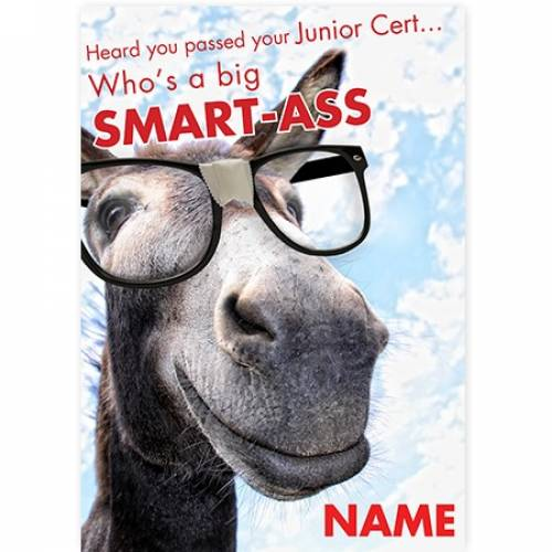 Donkey Smart Ass Passed Junior Cert Congratulations Card