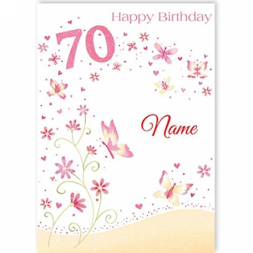 Butterfly's 70th Birthday Card