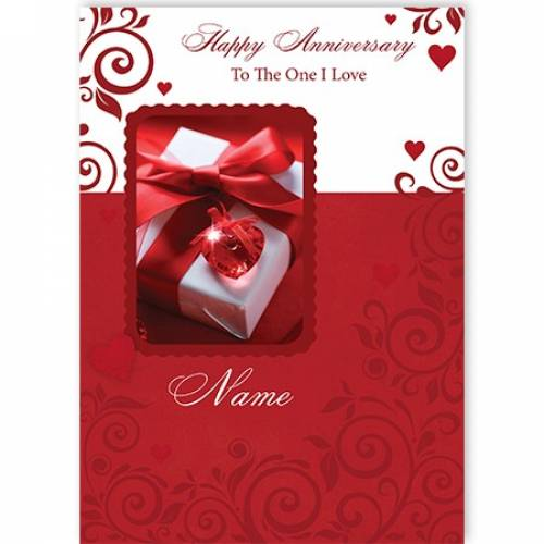 Red Heart Happy Anniversary To The One I Love Card