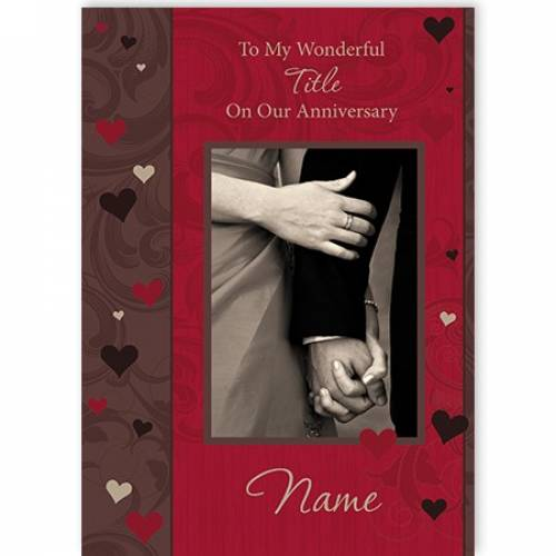 Our Anniversary Holding Hands Card