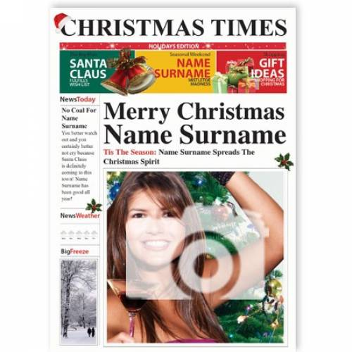 Christmas Times Photo Upload Card