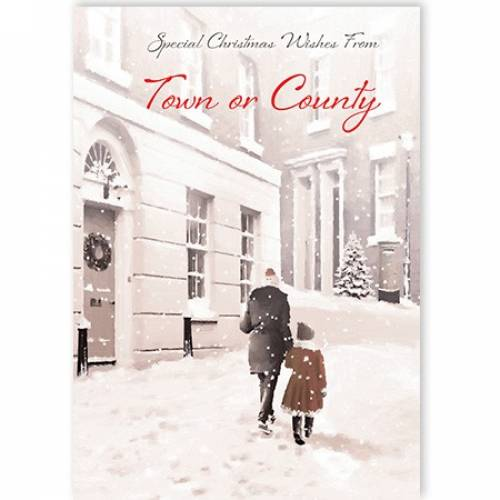 Insert Your Town Or County Special Christmas Wishes Card