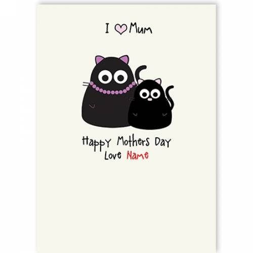 Cat & Kitten Happy Mother's Day Card