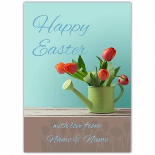 Happy Easter Tulips Card