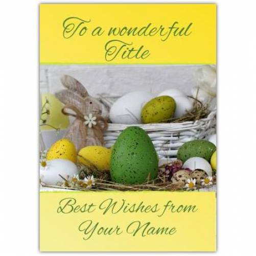 Eggs In A Basket Card