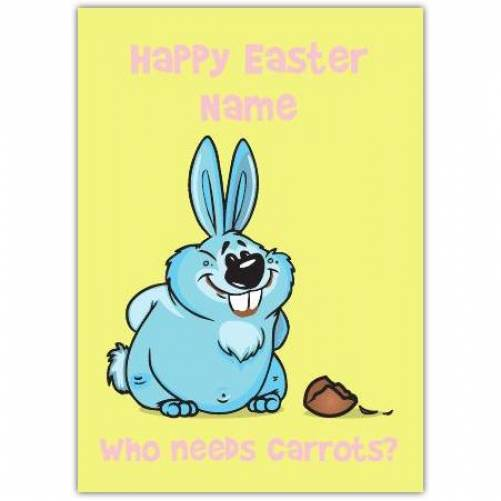 Who Needs Carrots Easter Card