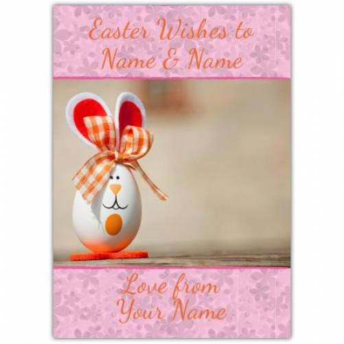 Egg And Bunny Easter Card