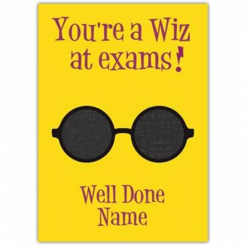 Wiz At Exams Card