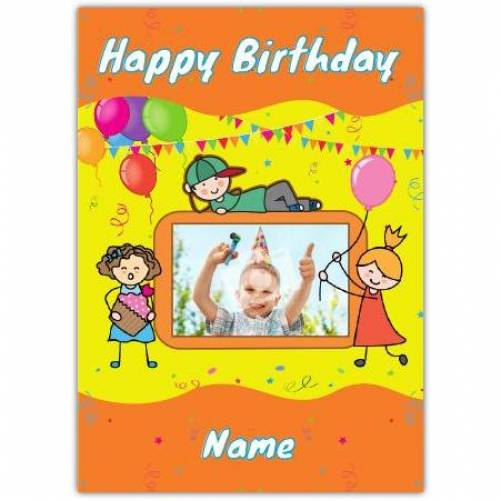 One Photo Boys Happy Birthday Card