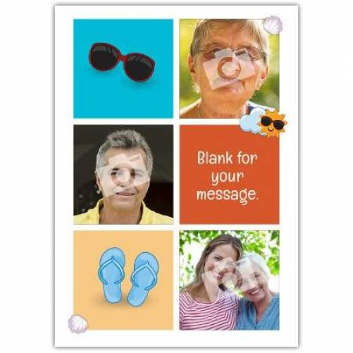 Sunglasses And Flip Flops Card