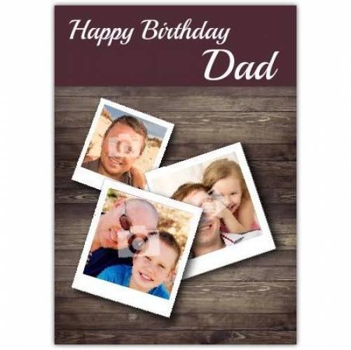 Wooden Table Dad Happy Birthday Card