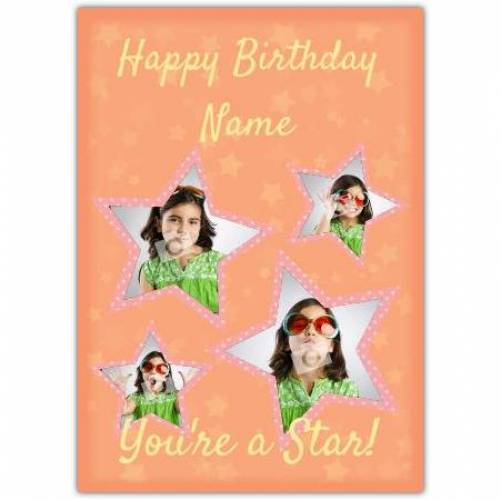 Four Star Birthday Card