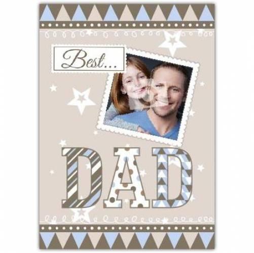 Best Dad Photo Card
