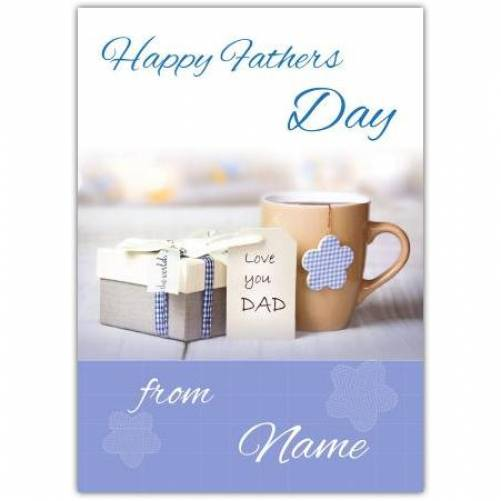 Happy Father's Day Love You Dad Card
