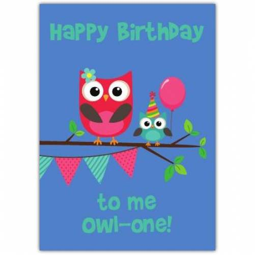 Owl One Happy Birthday Card Card
