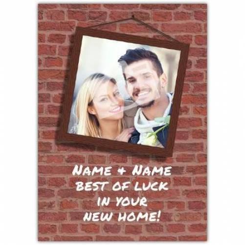 Bricks Congratulations On New Home Card