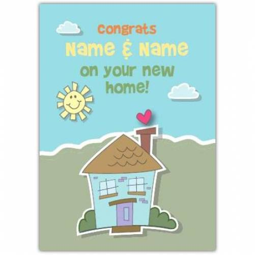House And Sun Congratulations On New Home Card