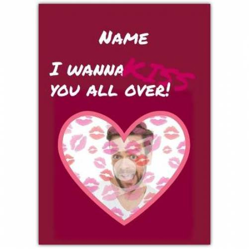 Kiss You All Over Card