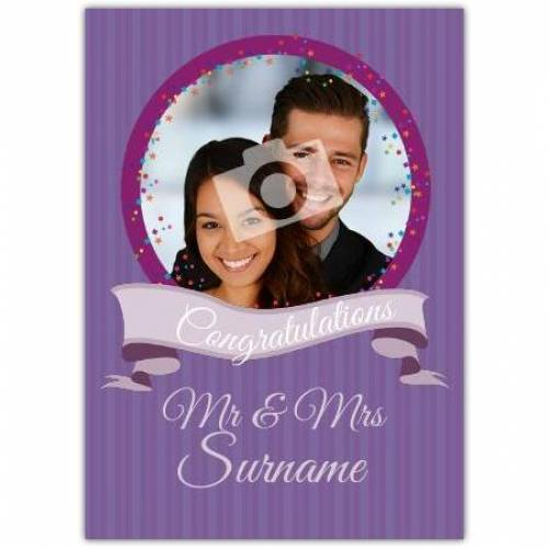 Mr And Mrs Congratulations Wedding Card