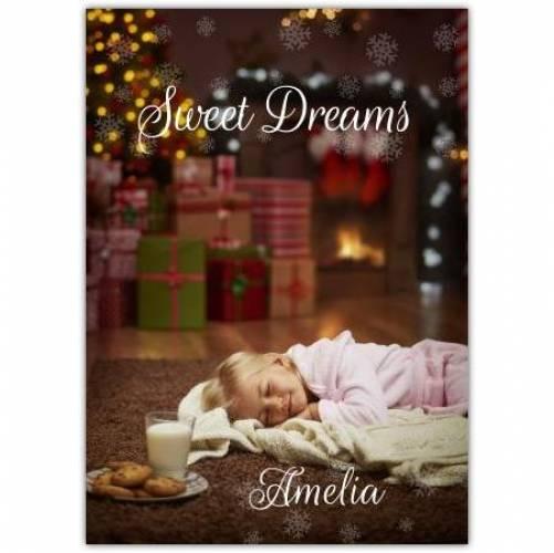 Sweet Dreams Christmas Card Card