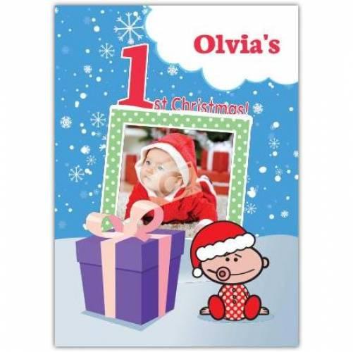 Baby's1st Christmas Card