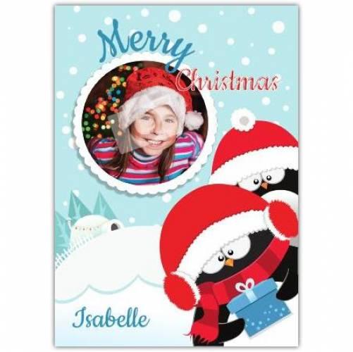 Penguins Merry Christmas Card