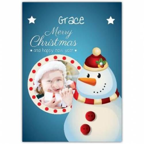 Snowman Merry Christmas Card
