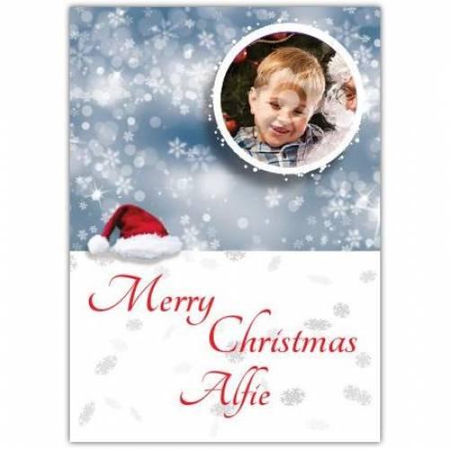 Merry Christmas Bauble Snow Card