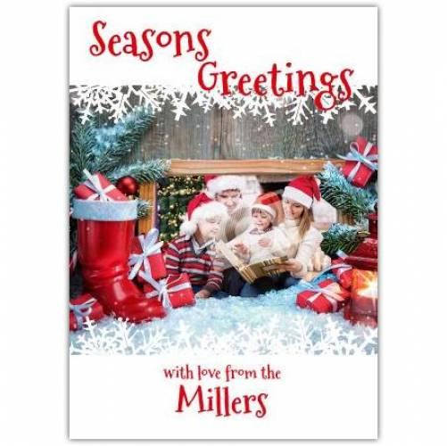 Seasons Greetings Christmas Cheer Card