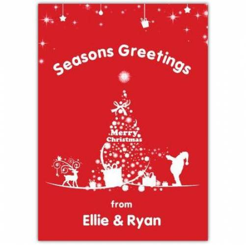 Seasons Greetings Merry Christmas Card