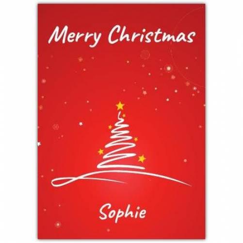 Merry Christmas Modern Tree Card