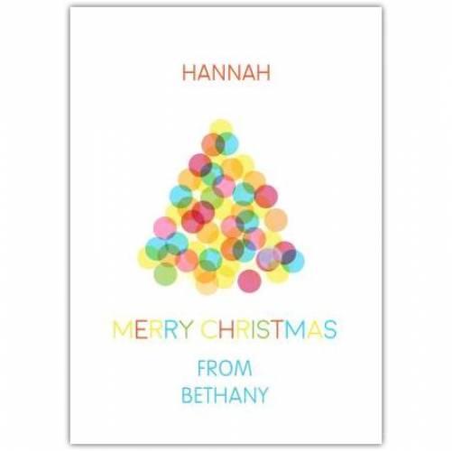 Coloured Dots Christmas Card