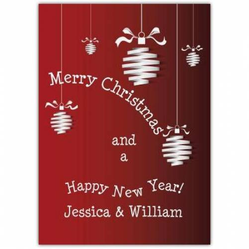 Happy New Year Decoration Christmas Card