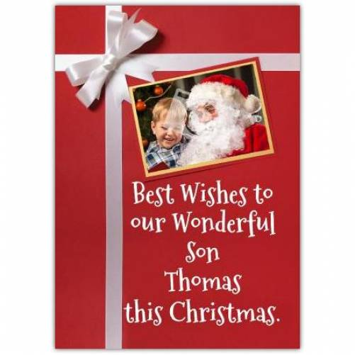 To Our Wonderful Son Christmas Card