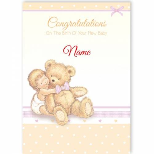 Congratulations Child And Bear Card