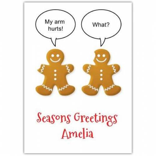 Gingerbread Men Funny Card