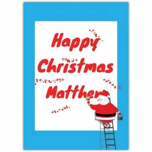 Happy Christmas Billboard Card