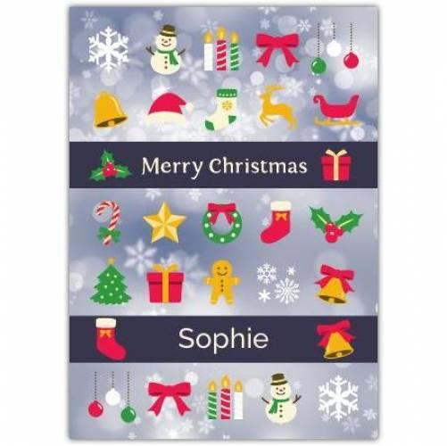 Merry Christmas Banner Card