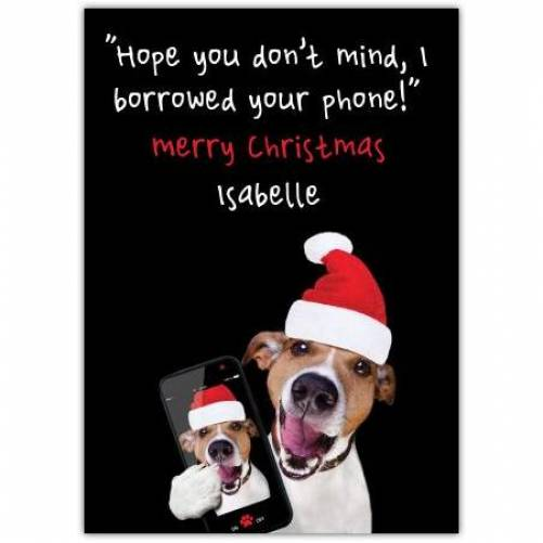 Merry Christmas, I Borrowed Your Phone Card