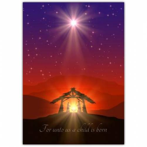 For Unto Us A Child Is Born Card