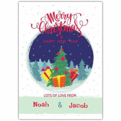 Merry Christmas Pine Trees Card