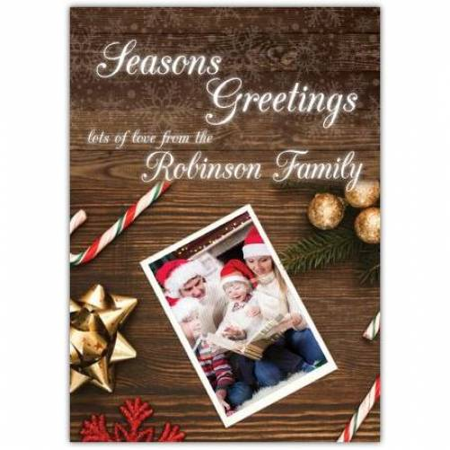 Lots Of Love From The Family Seasons Greetings Card