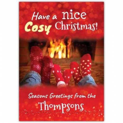 Have A Nice Cozy Christams Seasons Greetings Card