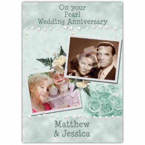 To Couple On Your Pearl 30th Wedding Anniversary Card