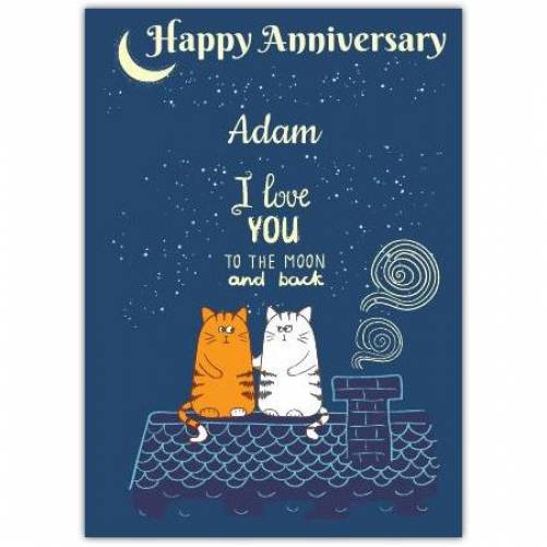 Cats On A Roof Happy Anniersary Card
