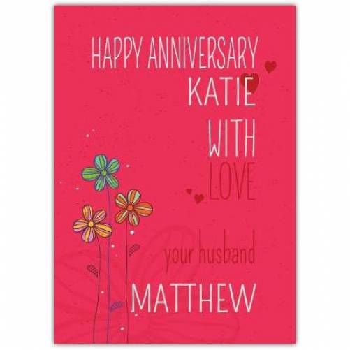 With Love From Your Husband Wedding Anniversary Card