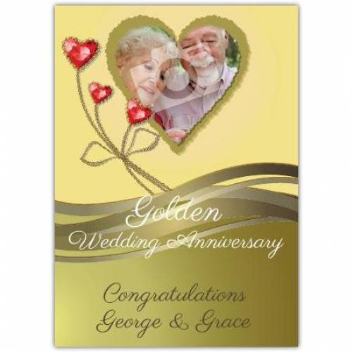 Congratulations On Golden 50th Wedding Anniversary Card